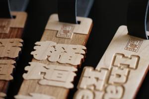 サクラの木を4ミリに削ってすっきりとしたネームプレートを作りました!!木製グランプレート!