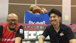 6月4日大阪エヴェッサ「ママさんバスケ教室」に今野翔太選手が!やって来た!
