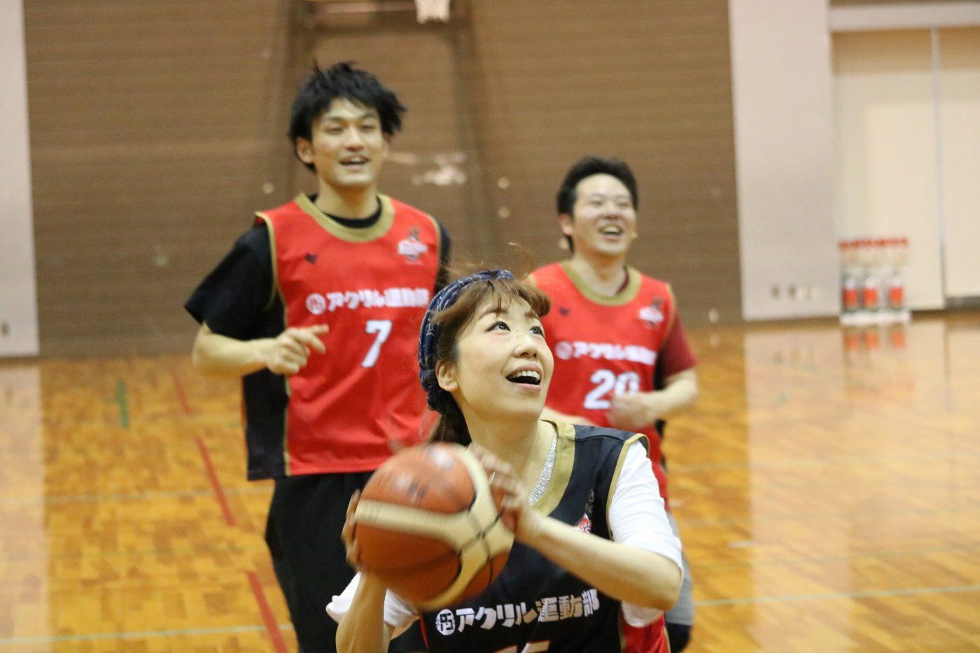大阪エヴェッサホーム最終戦を前にママさんバスケ盛り上がる!まっちゃん初参戦!